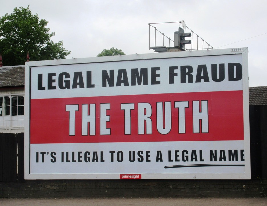 legal name fraud